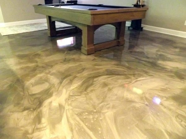 Metallic Epoxy Floor Basement